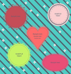 Set of cute frames vector image