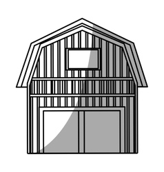 Isolated farm building design vector