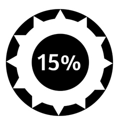 Fifteen percent download internet icon vector