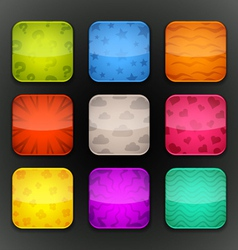Background for the app icons-set 7 vector