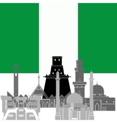 Nigeria vector image