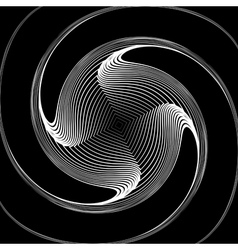 Design monochrome twirl movement background vector