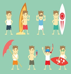 Boys in summer vector