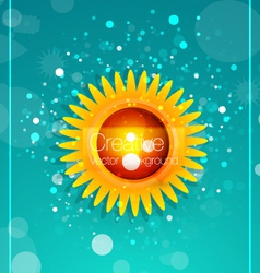 Modern sunflower vector