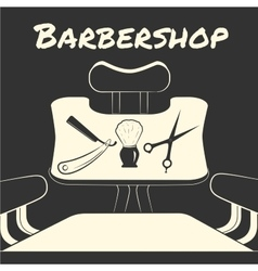 With barber tools vector