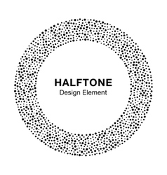 Abstract halftone frame circle dots logo element vector