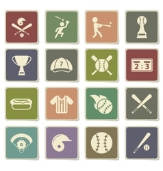 Baseball simply icons vector