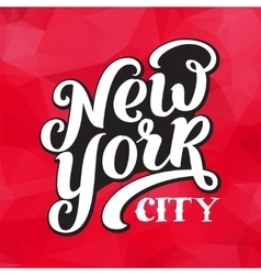 New york city typography brush pen design vector