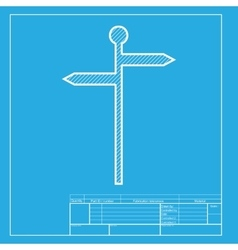 Direction road sign white section of icon on vector