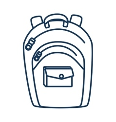 School backpack utensil vector