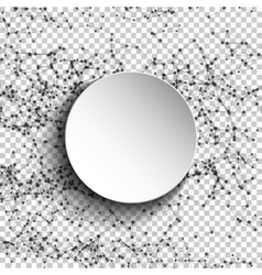 Abstract mesh spheres Futuristic atom technology vector image
