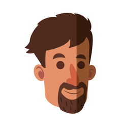 Avatar face man beard adult vector