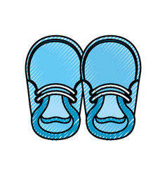 Baby booties for boy child cute image vector