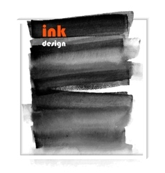 banner black spots on the wet ink vector image vector image