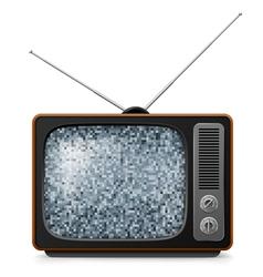 Broken retro tv vector