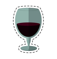 cartoon drinking glass wine icon vector image