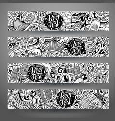 Cartoon hand drawn doodles octoberfest vector