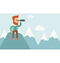 Cheerful leader man vector image