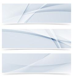 Fashion wave swoosh banner collection design set vector