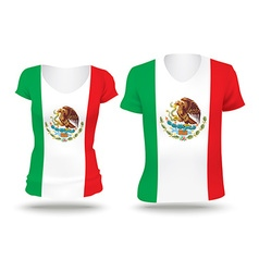 Flag shirt design of Mexico vector image vector image