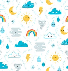 Fun weather pattern vector