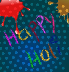 Holi festival design vector