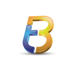 Letter tb 3d style logo vector