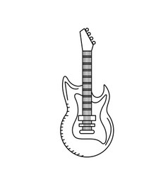 Line electric guitar musical instrument to play vector