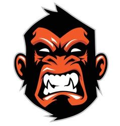 Monkey head mascot vector