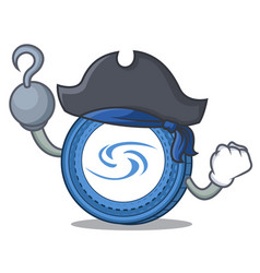 Pirate syscoin character cartoon style vector