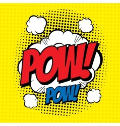 Pow comic vector
