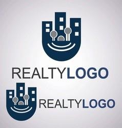 realty logo 8 3 vector image vector image