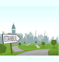 Road to istanbul vector