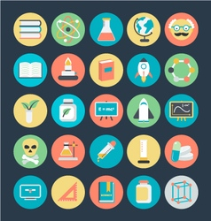 Science Colored Icons 4 vector image