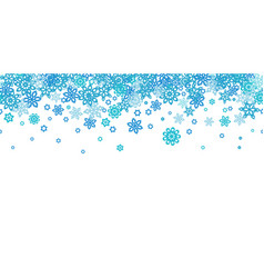 Seamless border snowflakes isolated on white vector
