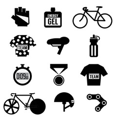 Set of Bicycle and Accessories vector image