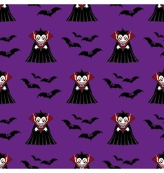Vampire seamless pattern vector image vector image