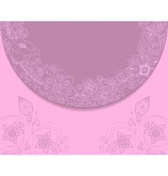 Vintage background with lace and floral ornaments vector image