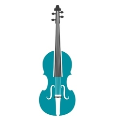 Violin music instrument icon design vector image vector image