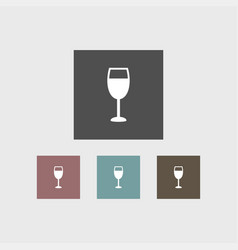 wine glass icon simple vector image