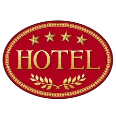 hotel label design vector image