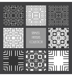 Monochrome repeated square collection vector
