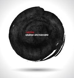 Round grunge shape vector