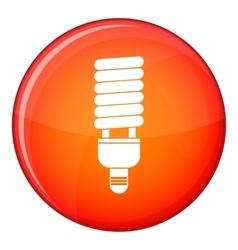 Fluorescent bulb icon flat style vector