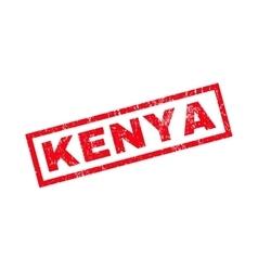 Kenya rubber stamp vector