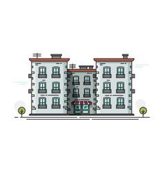 School building front view vector