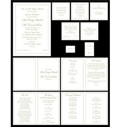 Wedding invitations gold vector