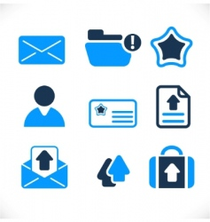 communication  mail signs vector image