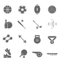 Sport icons set black vector
