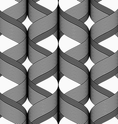 Ribbons with dark top cross overlapping pattern vector